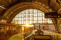 Train station in Berlin, Germany at Alexander Platz. Royalty Free Stock Photos