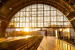 Train station in Berlin, Germany at Alexander Platz. Stock Photos