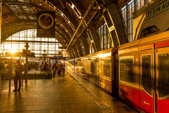 Train station in Berlin, Germany at Alexander Platz. Stock Images