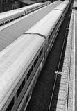 Train Station, Black and White Stock Images