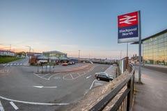Train Station Blackpool Beach Lancashire England Royalty Free Stock Images