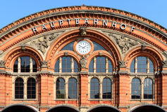 The train station in Bremen, Germany.  royalty free stock images