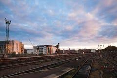 Train station of Bristol. At dawn Royalty Free Stock Photo