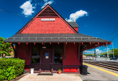 Train station in Brunswick, MD Royalty Free Stock Photos