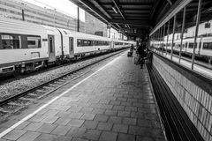 Train station at Brussels South, Belgium stock photos