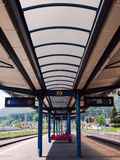 Train station in Busteni, Romania Stock Image