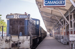 Train station in Camaguey, Cuba. Old train at train station in Camaguey, Cuba Royalty Free Stock Photography