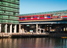 Train station on Canary Wharf in London Stock Photo