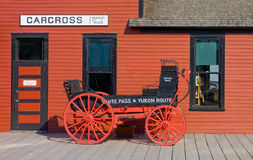 The train station at carcross, alaska Stock Image