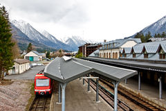 Train station at Chamonix, France Stock Photo