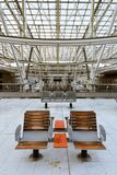 Train station, Charles de Gaulle airport, Paris - chairs Royalty Free Stock Image