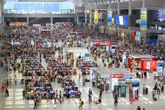 Train Station Terminal Hongqiao Shanghai Stock Photo