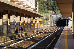 A train station in Cinque Terre Stock Photo