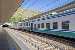 Train station at Cinque Terre National Park Stock Photography