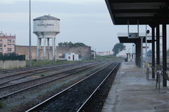 Train station. In the city of Caldas da Rainha - Portugal Stock Photography