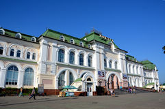 Train station in the city of Khabarovsk, Russia Royalty Free Stock Photo