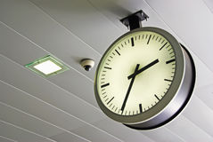 Train Station Clock Royalty Free Stock Photography