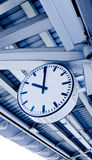Train station clock Royalty Free Stock Photos