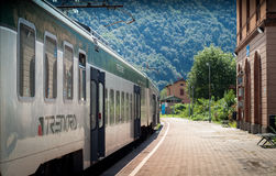 Train Station in Colico Stock Images