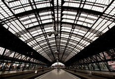 Train station in cologne germany Royalty Free Stock Image