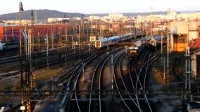 Train station in Czech Republic stock video footage