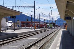 Train station at Davos , Switzerland Stock Photos