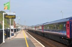Train station in Dawlish, Devon, UK Stock Photos