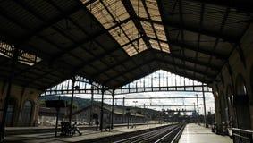 Train station. Detail sete train station architecture in Paris stock image