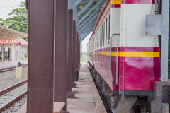 Train. Station in the eastern province of Thailand Royalty Free Stock Images