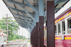 Train. Station in the eastern province of Thailand Stock Photos