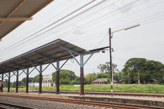 Train. Station in the eastern province of Thailand Royalty Free Stock Photo