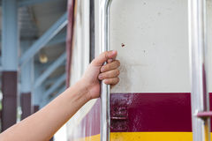 Train. Station in the eastern province of Thailand Stock Images