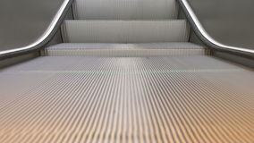 Train Station Escalators. Detailed close-up of running escalators stairs in the airport station stock video footage