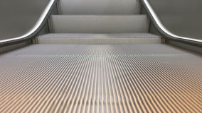 Train Station Escalators. Detailed front focused shot of running escalator stairs stock video