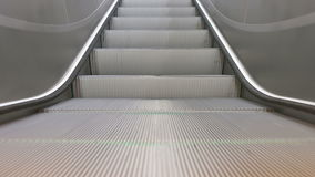 Train Station Escalators. Medium zoomed  detailed close up of running escalator stairs in the airport stock video footage