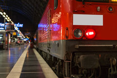 Train in the station evening background Stock Photos