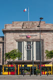 Train station facade with tramway Stock Photography