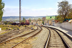 Train station Feodosia Stock Images