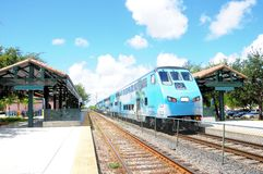 Train in station in Florida Stock Image