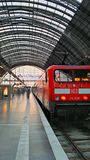 Train Station. In Frankfurt Germany Royalty Free Stock Photography