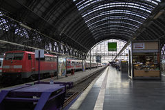 Train station in Frankfurt, Germany Stock Photo