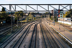 The train station with free routes. Stock Image