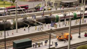 Train station and Freight train stock video