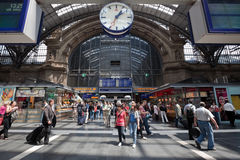 Train Station in Germany Royalty Free Stock Photography