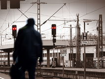 Train station Ghost Stock Images