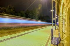 Train Station. High speed train Stock Image