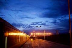 Train station. At Golmud Qinghai at dawn Stock Photos