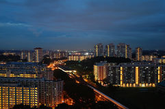 Train Station & Government Housing in Singapore Royalty Free Stock Image