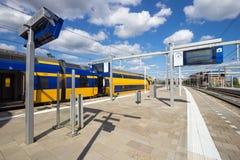Train station platform. An Intercity train at Arnhem Central Station, The Netherlands stock photos