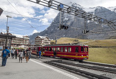 Train station interlaken Royalty Free Stock Images
